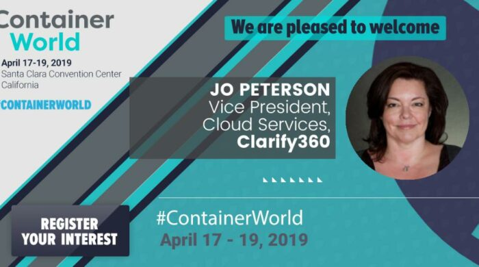 Jo Peterson Clarify360 to present at Container World 2019 Santa Clara