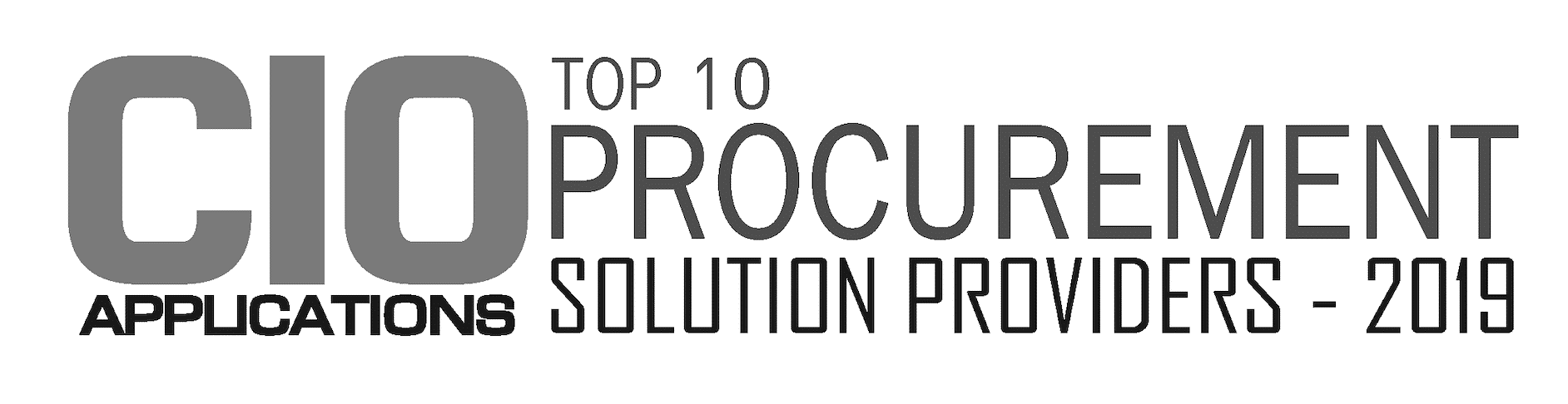 2019 cio applications procurement solutions provider award