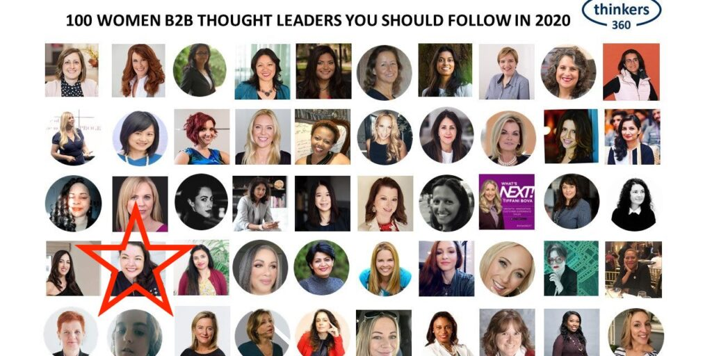 Jo Peterson named 100 Women B2B Thought Leaders to follow 2020 by Thinkers360