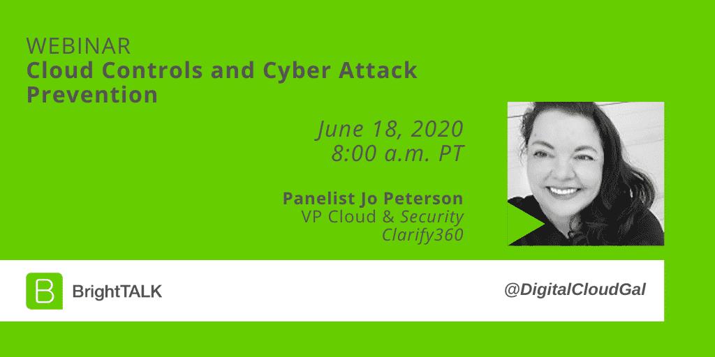Jo Peterson BrightTALK cyber security webinar