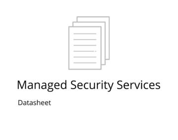 managed security services datasheet