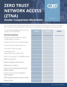 zero trust network access vendors
