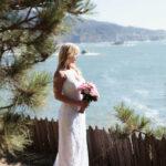 blufftop bride at Warner Point
