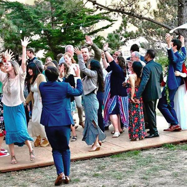 wedding reception at Warner Point