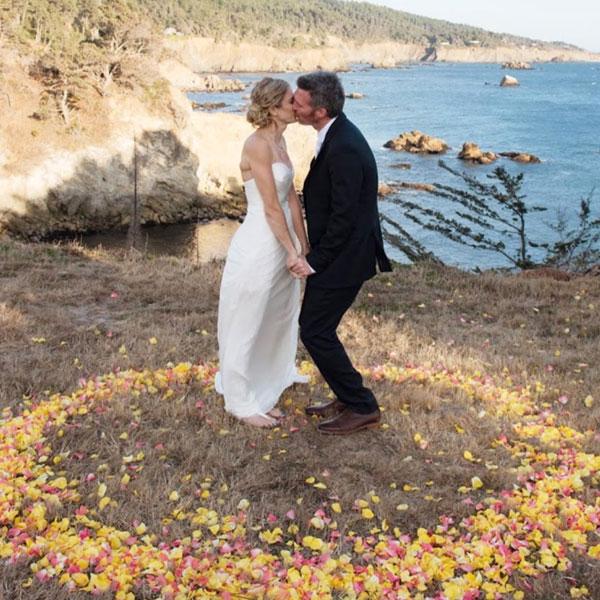 bride and groom at Warner Point
