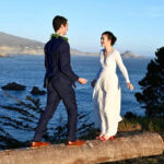 bride and groom at Warner Point
