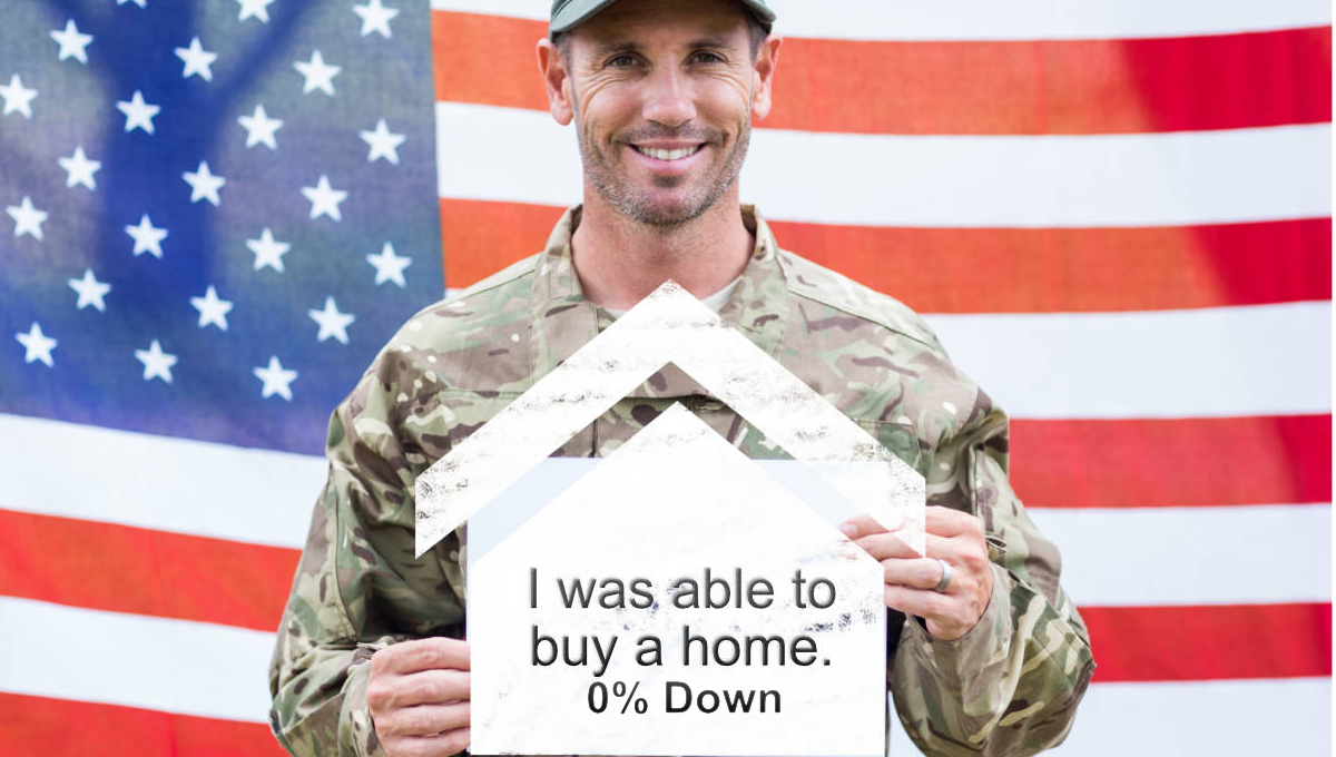 Veteran able to buy home with no money down