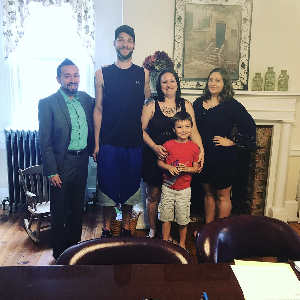 Family closing on a new home