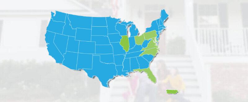 Home mortgages in Illinois, Pennsylvania, Ohio, Maryland, Florida, North Carolina, Virginia and Puerto Rico