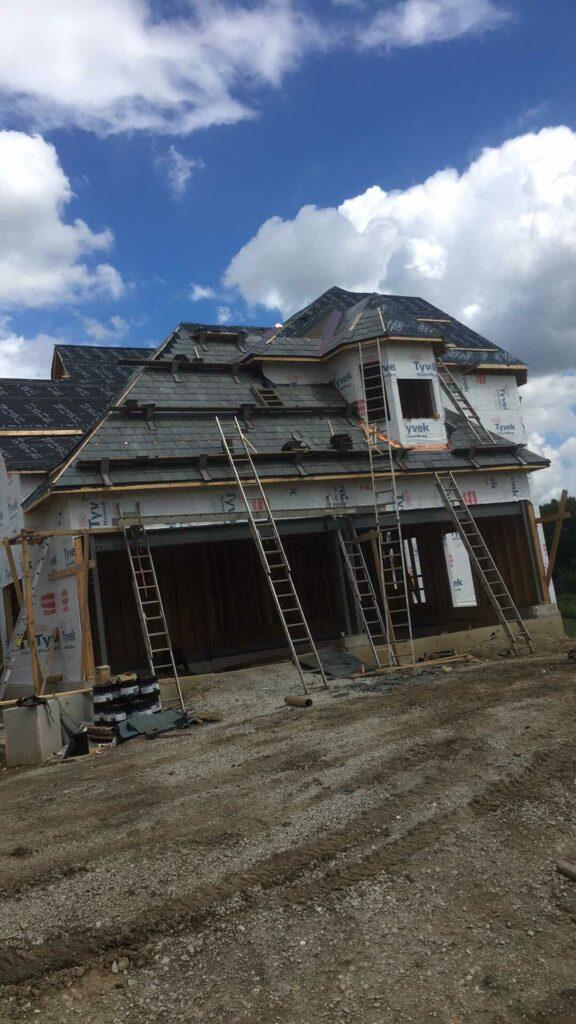 In progress Slate Roof Install