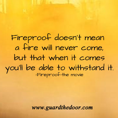 Fireproof quote