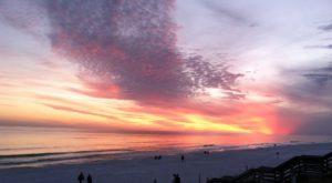 Sunset view of Miramar Beach
