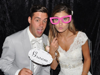 Wedding Couple in Photobooth Example
