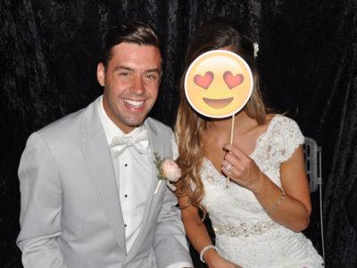 Example of Wedding Couple in Photobooth