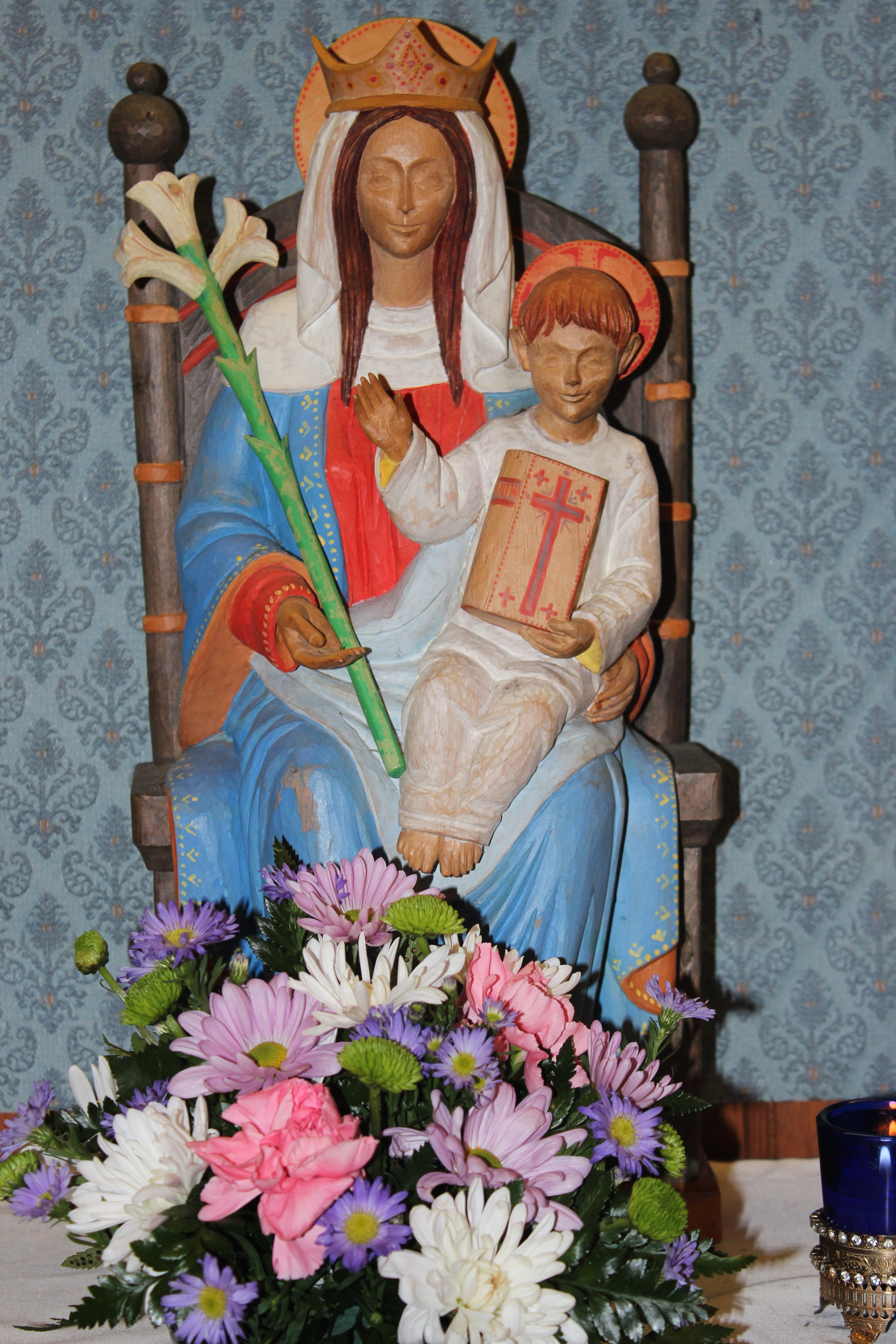 altar of Our Lady  of Walsingham  Holy Guardian Angels, Lantana Florida