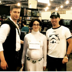 Author J. R. Wagner and with Han Solo and Princess Leia at ComicCon in Philadelphia