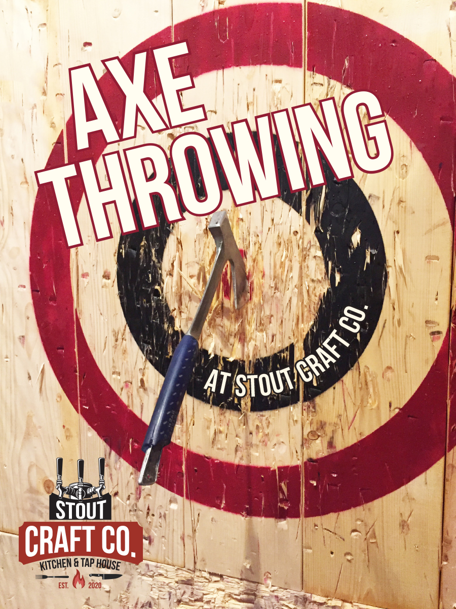Axe Throwing at Stout Craft Co.