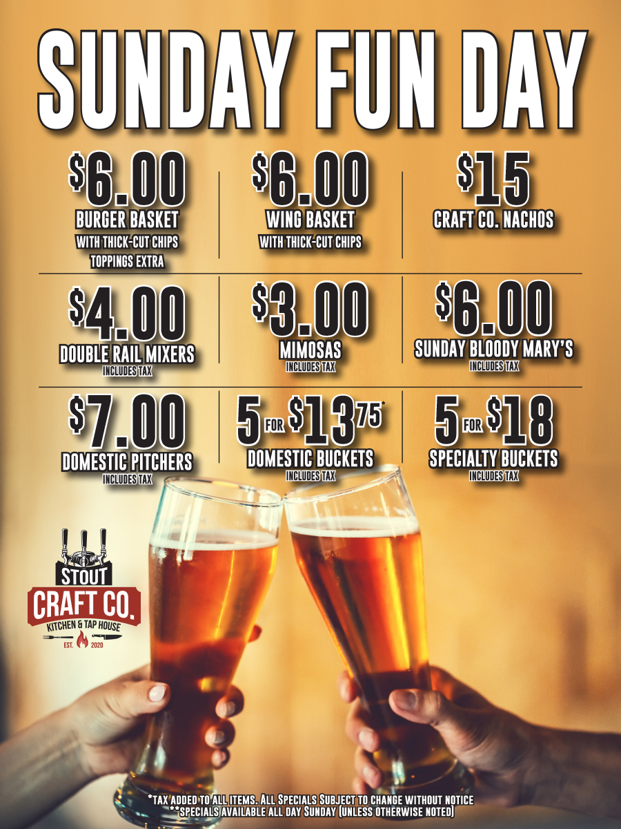 Sunday Funday Specials