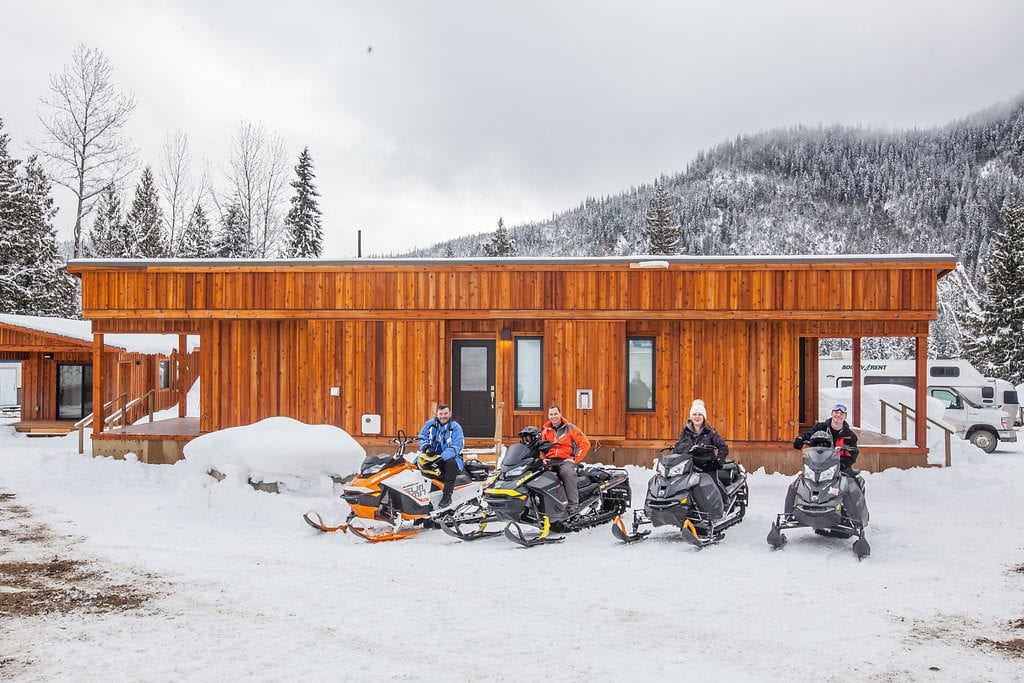 Cabin with Sledders