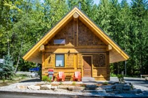 Red Stag Log Cabin Exterior