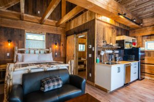 Red Stag Log Cabin Interior