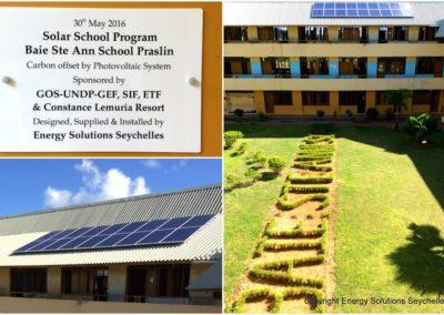 ESS Install Baie Ste Anne School Praslin