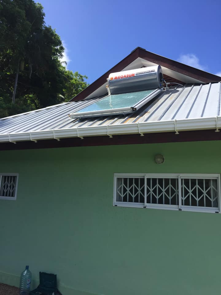 ESS solar hot water in Seychelles