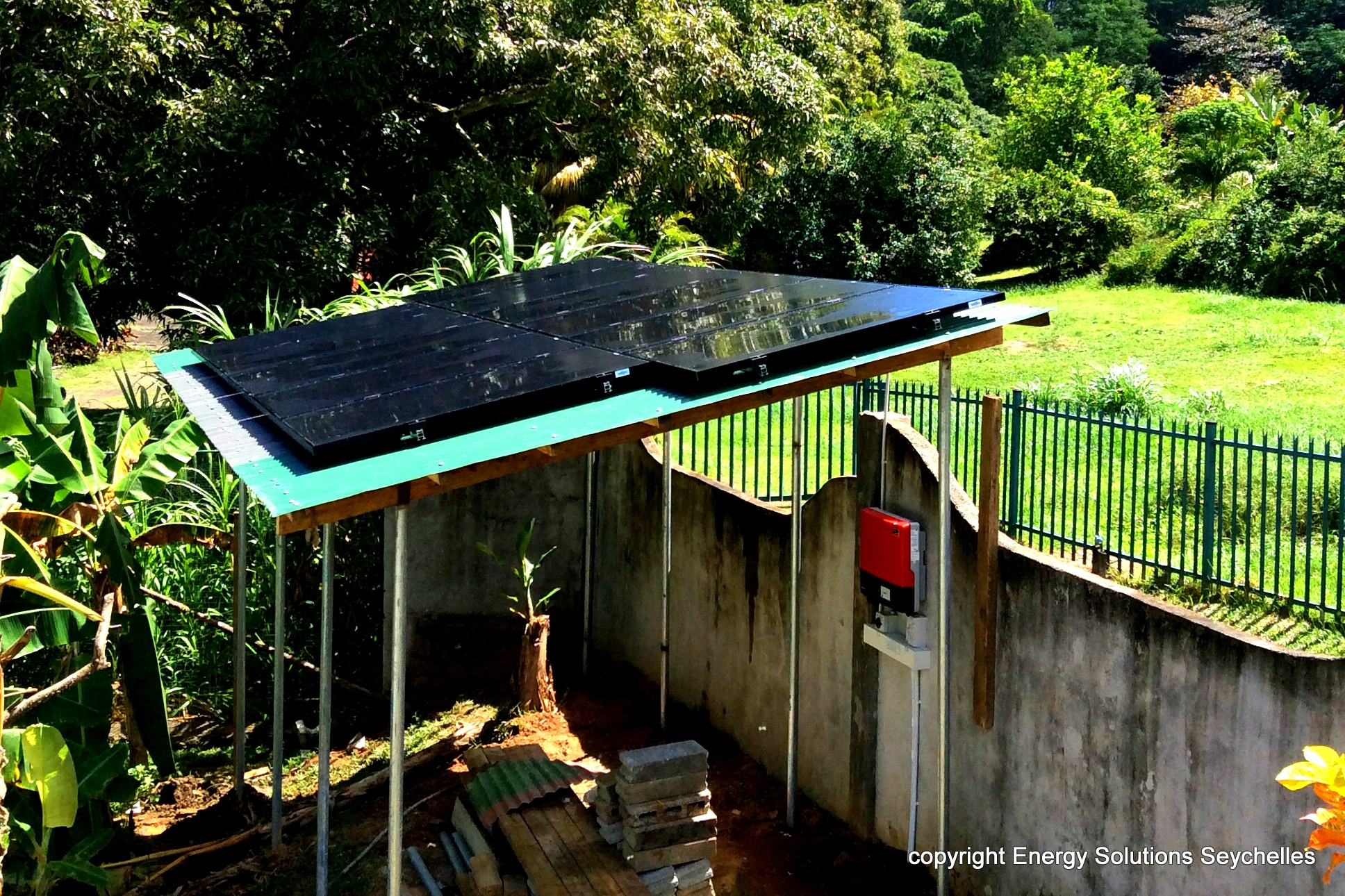Energy Solutions Seychelles Solar PV Structure