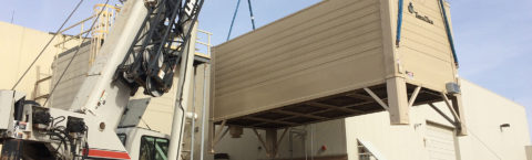 Arranging temporary cooling tower backup during repairs or new construction.