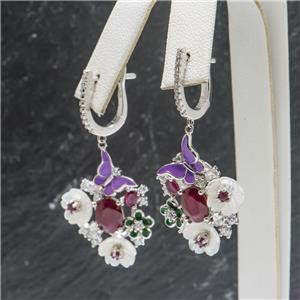 Ruby, Mother of Pearl White Sapphire SS $89.98