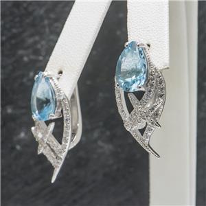 10.3 ctw Topaz & White Sapphire SS $249.99