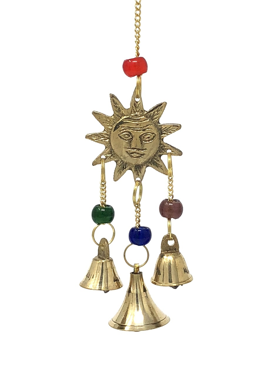 Brass Wind Chimes with bells Sun $12.99