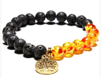 Lava Volcano and fire bracelet with charm $14.99