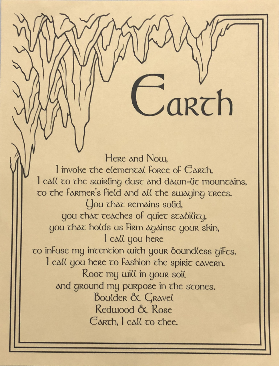 Prayer Poster Earth $4.99