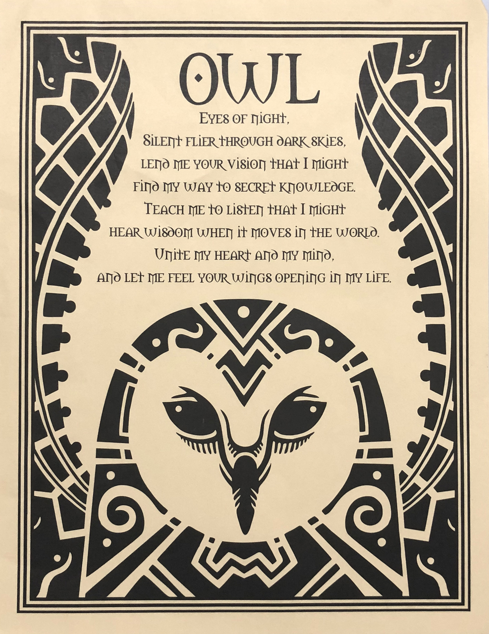 Prayer Poster Owl $4.99