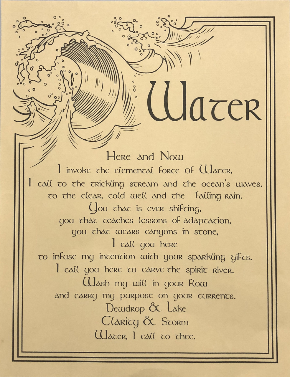 Prayer Poster Water $4.99