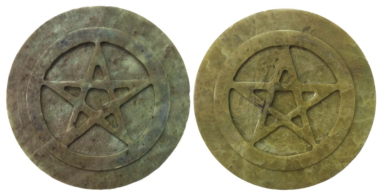 Soapstone Pentacle $8.99 each