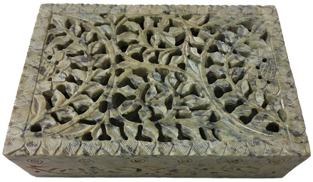 Stone leaf box carving 4x6 $22.99
