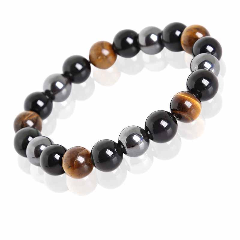 Tiger Eye, Hematite, black Obsidian bracelet $22.99