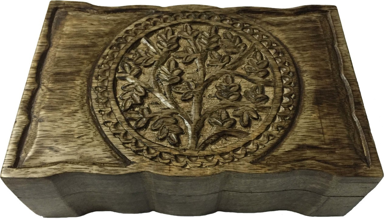 Tree of Life Wooden Box 5x8 $24.99