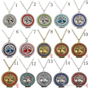 Tree of life aromatherapy necklaces, mulitple colors $12.99 each