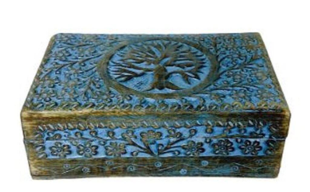 Tree of Life Colored Wood Box 5x8 $24.99