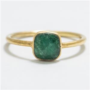 .80ctw Emerald 14k Gold/SS Sz 5.75 $46.99