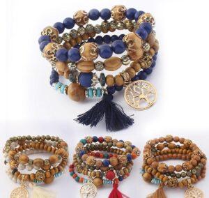 Mix and Match Wood Tassel Bracelets $2.99 each
