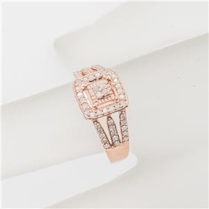 .62ctw Diamond 14K Rose Gold/SS Sz 7 $129.99