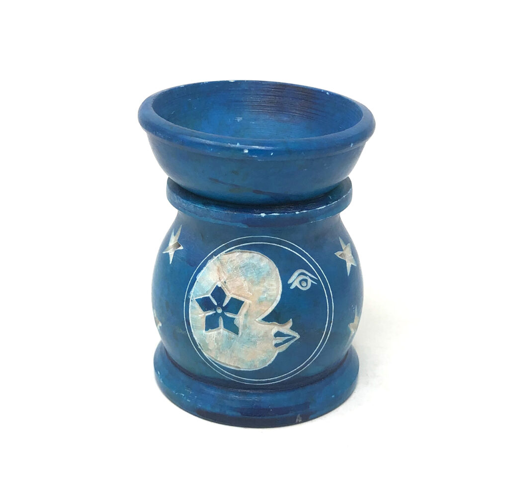 Moon and Star Soapstone Oil Burner Image