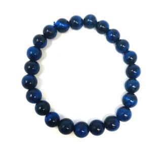 Blue Cat's Eye Gemstone Bracelet