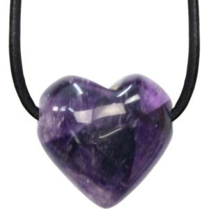 Amethyst Puffed Heart Necklace