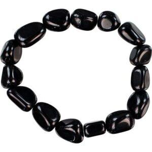 Tumbled Black Obsidian Bracelet