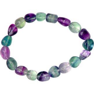 Tumbled Fluorite Bead Bracelet